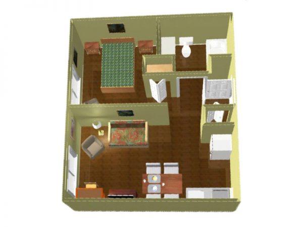 Regency Retirement Village - Huntsville 1 bedroom floor plan