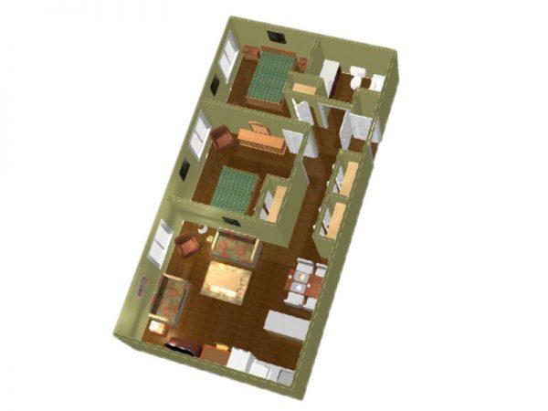 Regency Retirement Village - Huntsville 2 bedroom floor plan