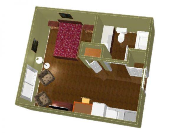 Regency Retirement Village - Huntsville studio floor plan