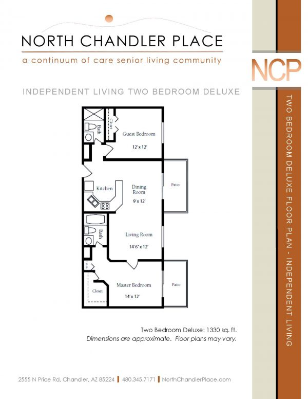 North Chandler Place Independent Living floor plan 1