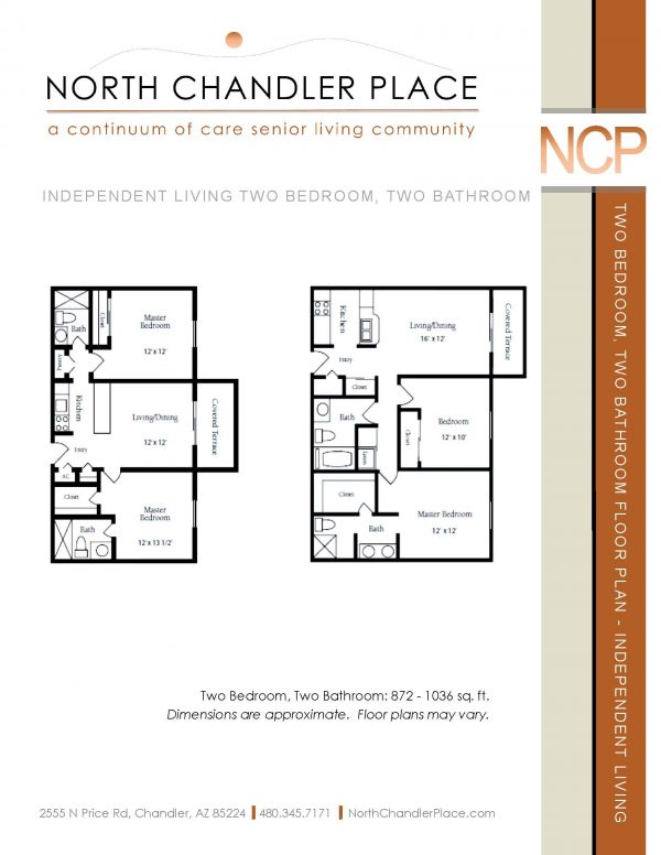 North Chandler Place Independent Living floor plan 2