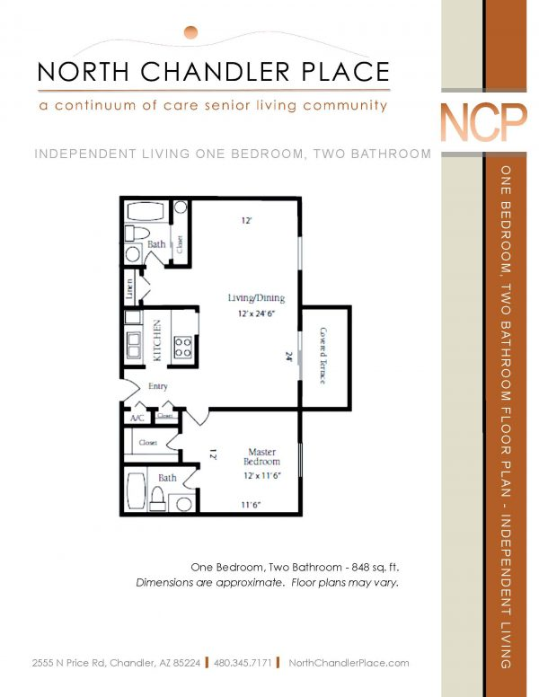 North Chandler Place Independent Living floor plan 3