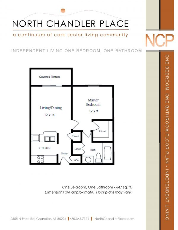 North Chandler Place Independent Living floor plan 4