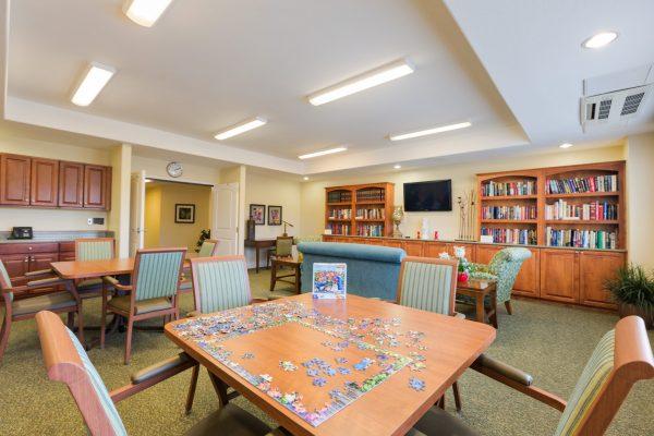 Mountain Park Senior Living resident game room