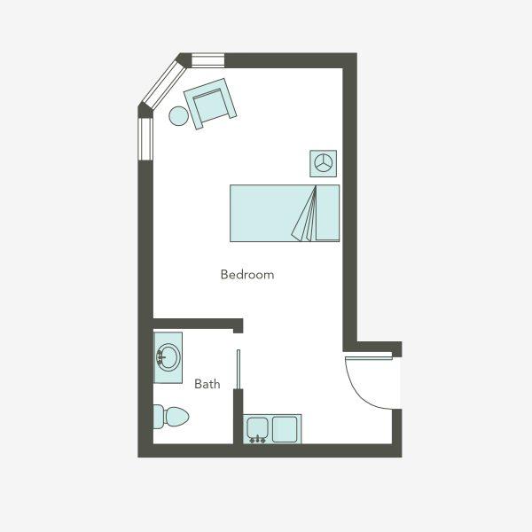 Aegis Living Issaquah AL studio floor plan