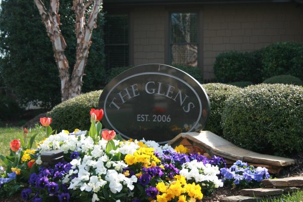 The Glens at Birkdale Commons entrance sign