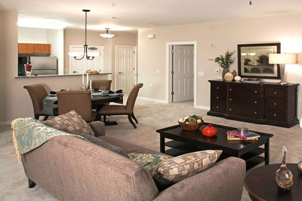 Model apartment home interior at Danberry At Inverness