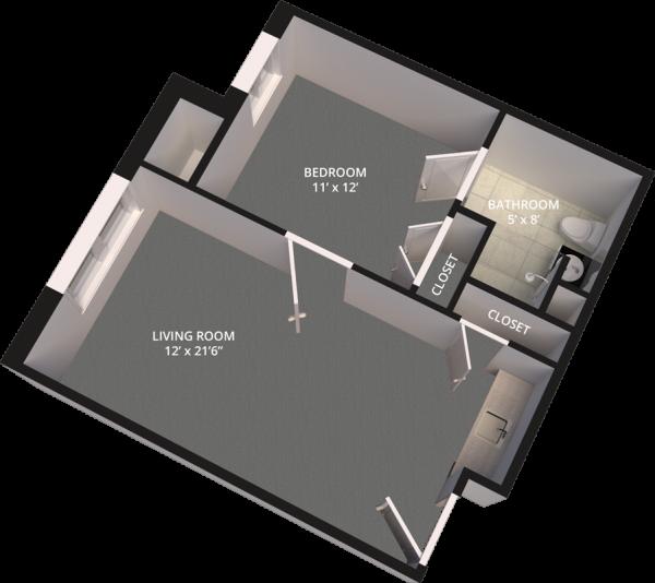 The Madison Village Suite A floor plan