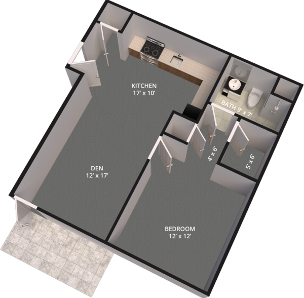 The Madison Village Unit A floor plan