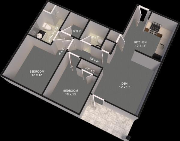 The Madison Village Unit B-B floor plan