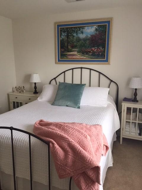 Model bedroom at Crossings at Heritage