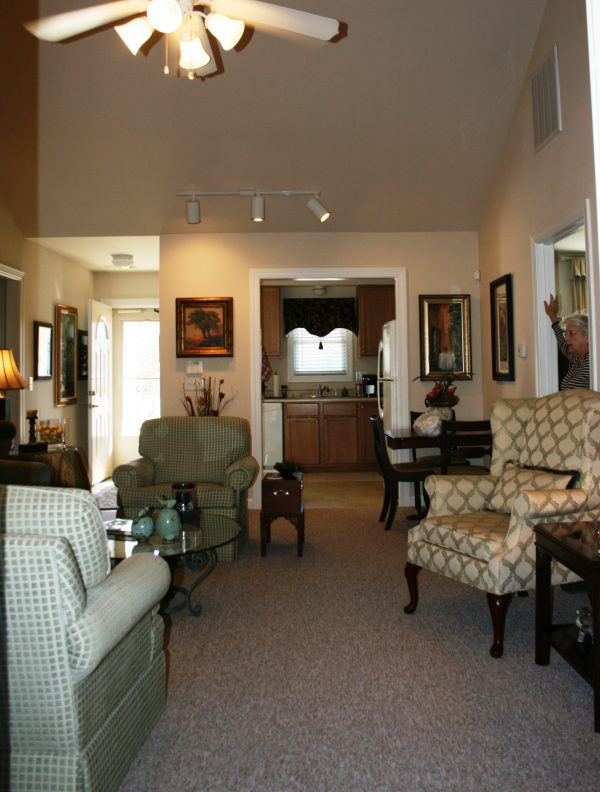 The Glens at Birkdale Commons model home living room