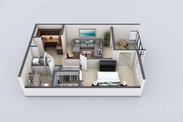 Freedom Plaza Care Center model B floor plan