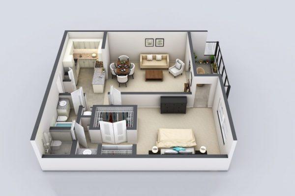 Freedom Plaza Care Center model D floor plan