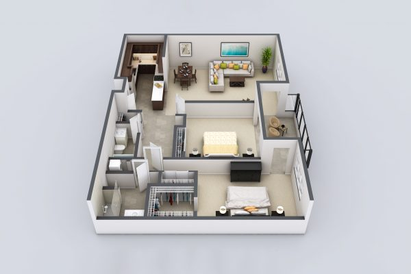 Freedom Plaza Care Center model E floor plan
