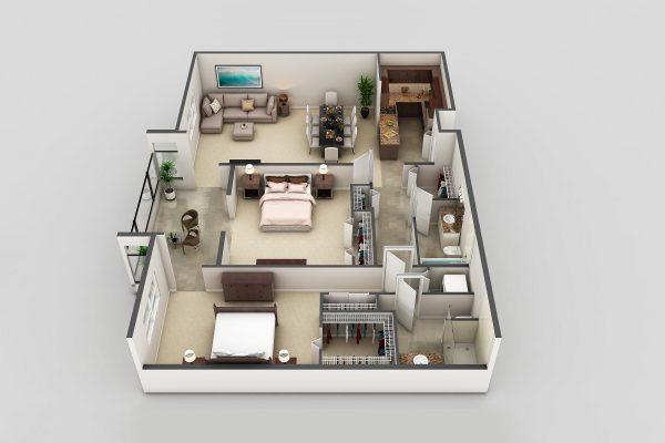 Freedom Plaza Care Center model F floor plan