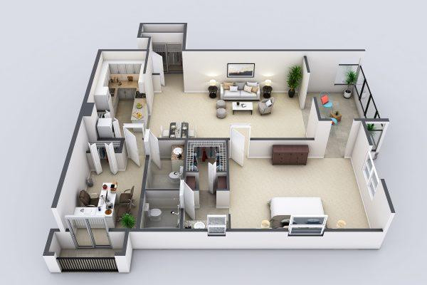 Freedom Plaza Care Center model G floor plan