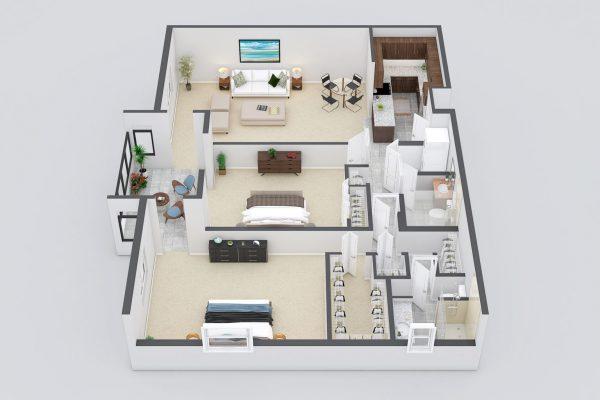 Freedom Plaza Care Center model H floor plan