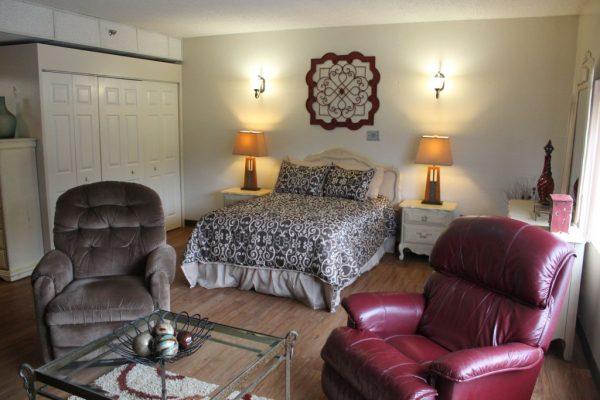 Model bedroom in Village at Cook Springs