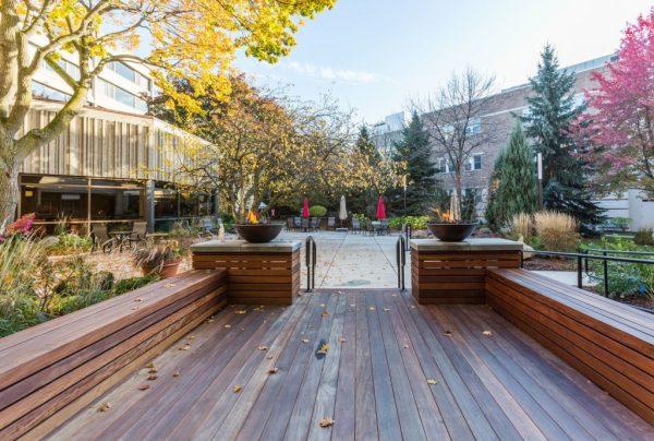 Milwaukee Catholic Home wood patio