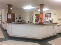 The front desk and reception area at Peak Resources Brookshire