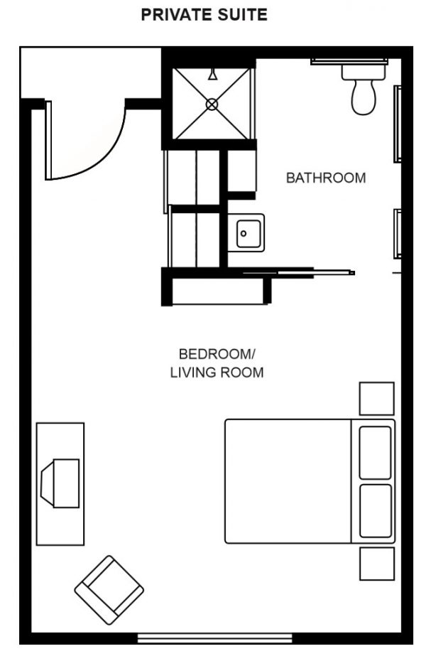 Hawthorn Court at Ahwatukee private room floor plan