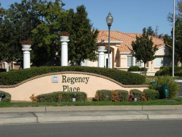 Regency Place Senior Living community entrance sign