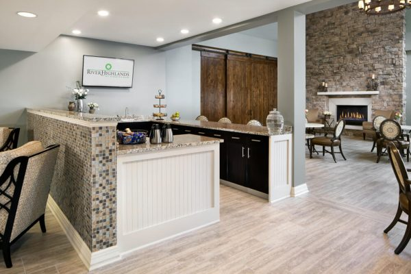 Community kitchen and living room in River Highlands