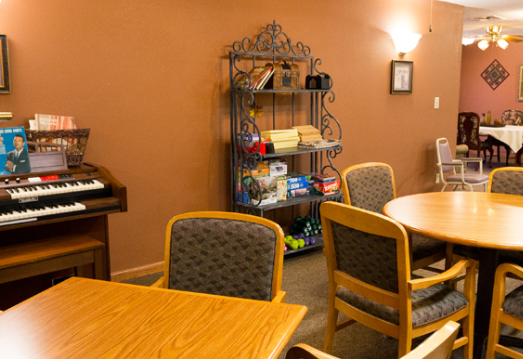 Arts and crafts room inside Abilene Place