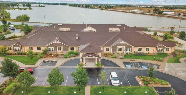 Aerial view of Seven Lakes Memory Care