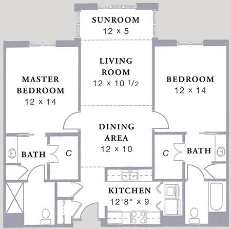 Arbor Acres United Methodist Stockton C1 floor plan