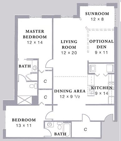 Arbor Acres United Methodist Stockton D2 floor plan