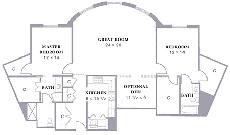 Arbor Acres United Methodist Stockton D3 floor plan