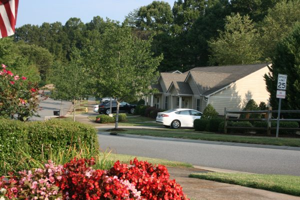 Street view of homes at The Glens at Birkdale Commons