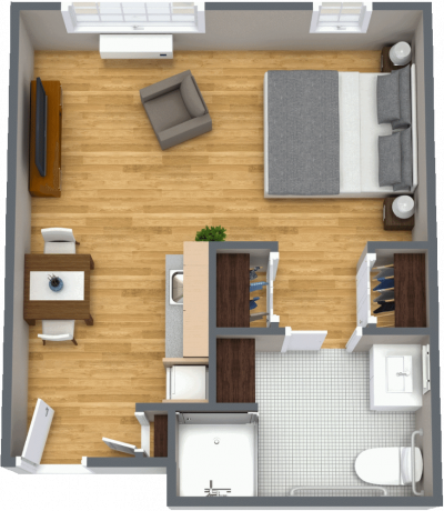 Sun City West deluxe studio floor plan