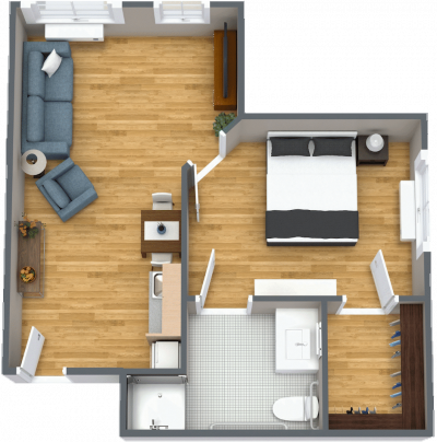 Sun City West grand one bedroom floor plan