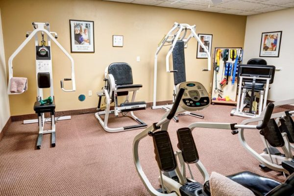 Exercise equipment in the Sun City West fitness center