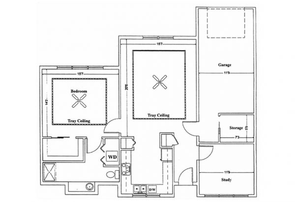 The Terrace at Priceville one bedroom floor plan
