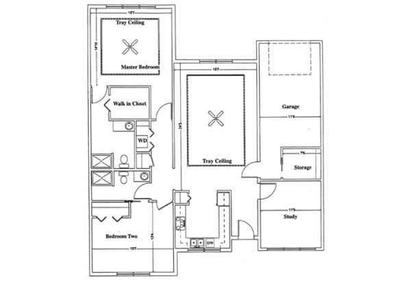 The Terrace at Priceville two bedroom floor plan