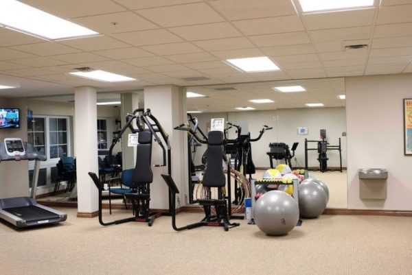 Fitness center at Vickery Rose Retirement