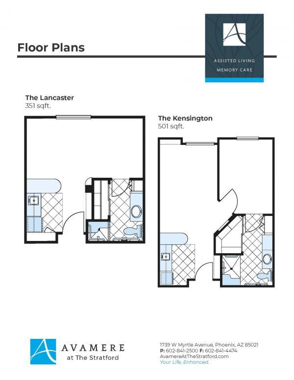 Avamere at The Stratford floor plan 1
