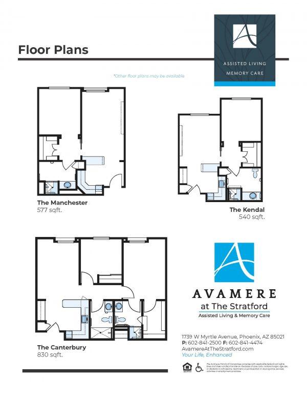 Avamere at The Stratford floor plan 2