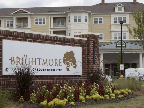 Brightmore of South Charlotte entrance sign