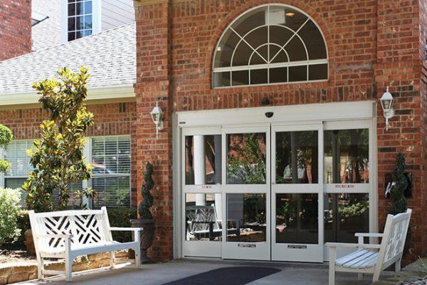 Brookdale Club Hill main entrance doors
