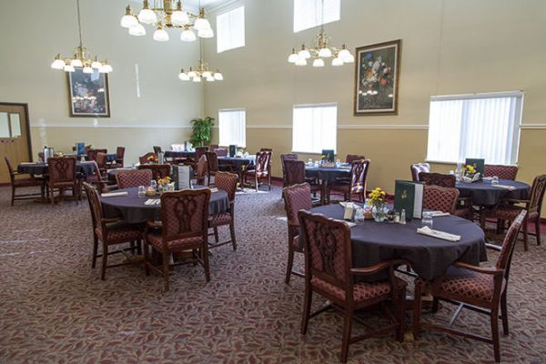 Brookdale Fort Smith community dining room