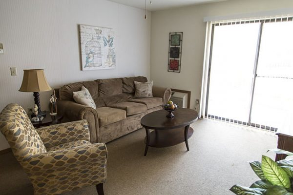 Brookdale Fort Smith model apartment living room