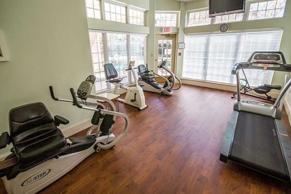 Fitness center in Brookdale Place at Jones Farm