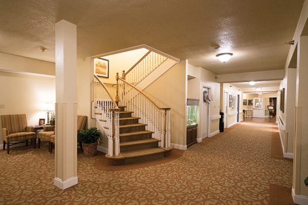 Foyer and staircase in Brookdale Lake Brazos