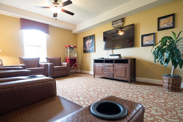 Community common area and tv room in Brookdale Lake Brazos
