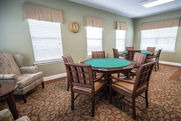 Brookdale Lake Brazos card and game room